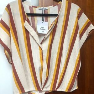 NWT Zara striped blouse